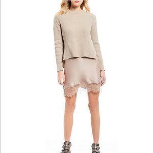 Chelsea & Violet Ribbed Sweater and Slip Dress Set